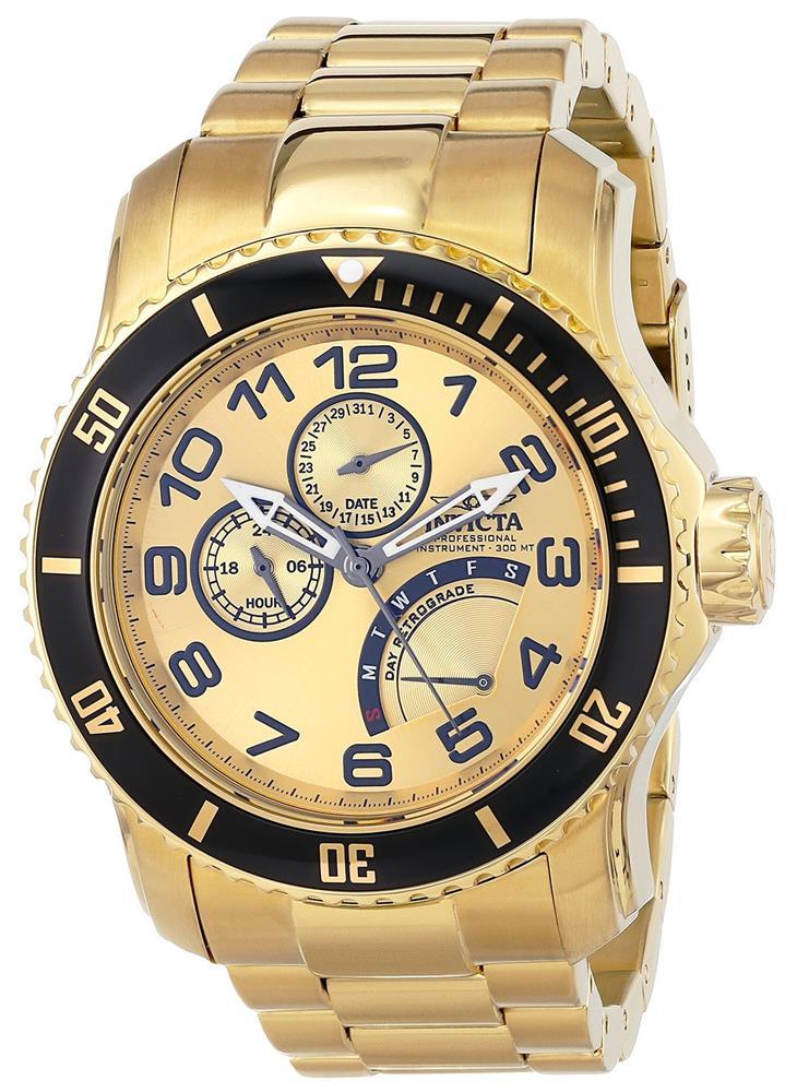 złoty zegarek invicta
