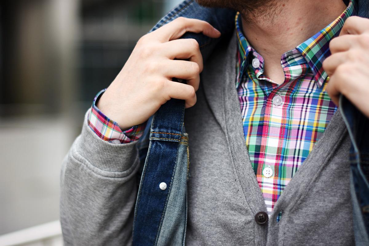 kolorowa koszula krata wolczanka