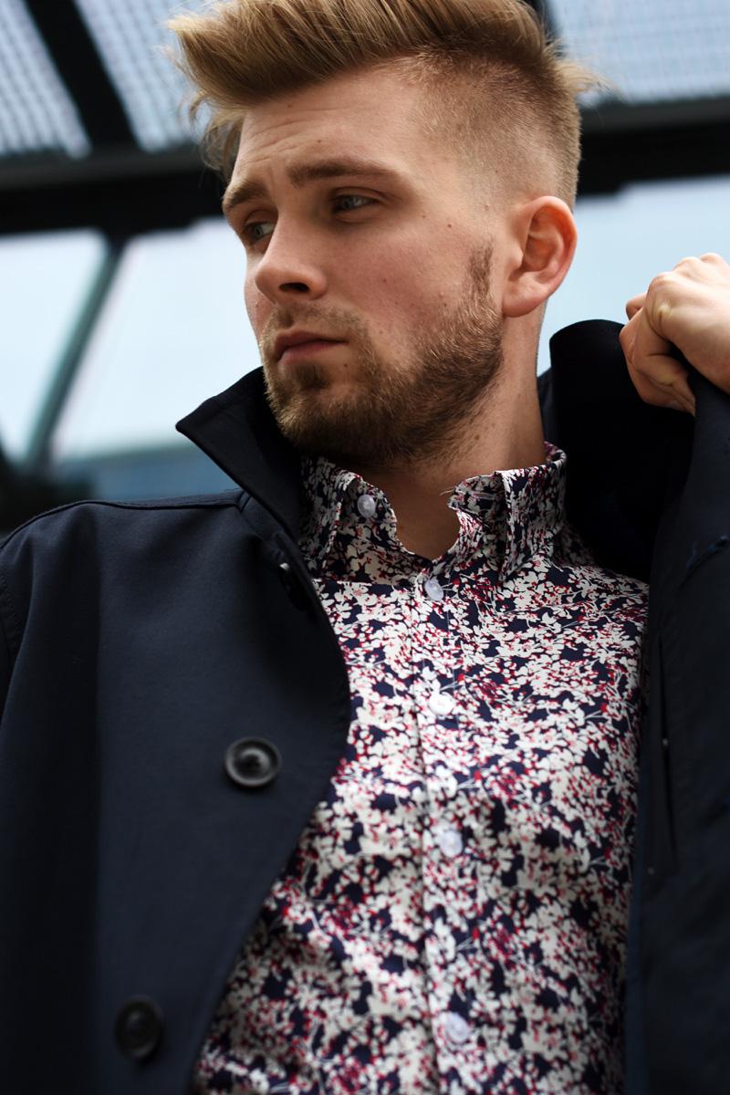 meska elegancka moda koszula