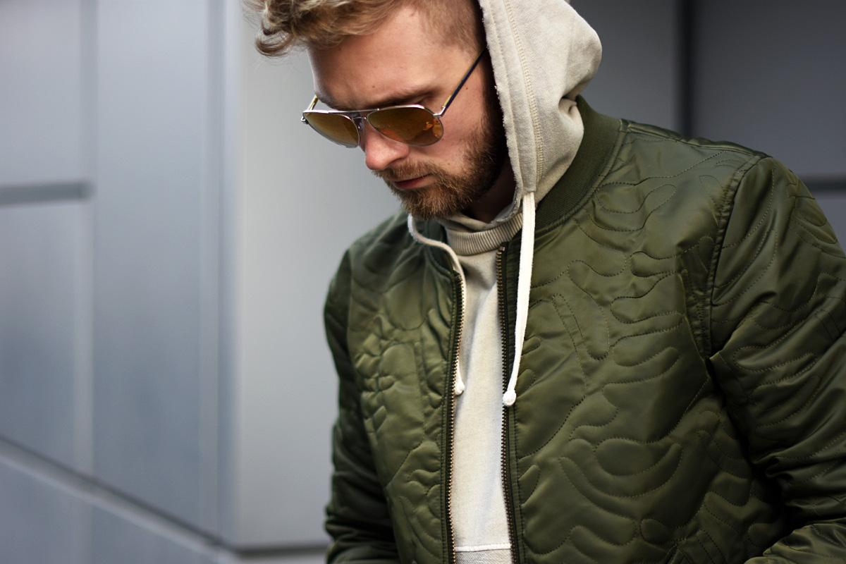 bomber jacket khaki vistula