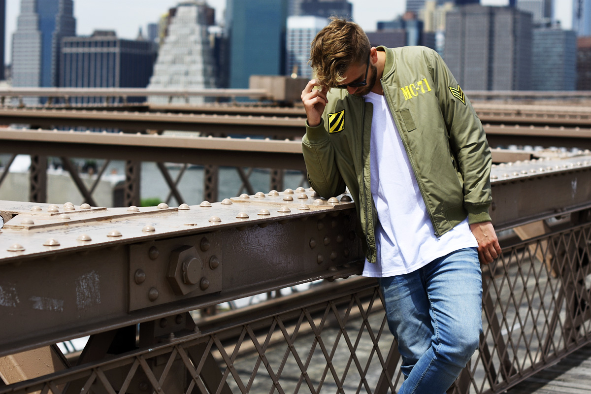 bomber jacket streetwear podlinski