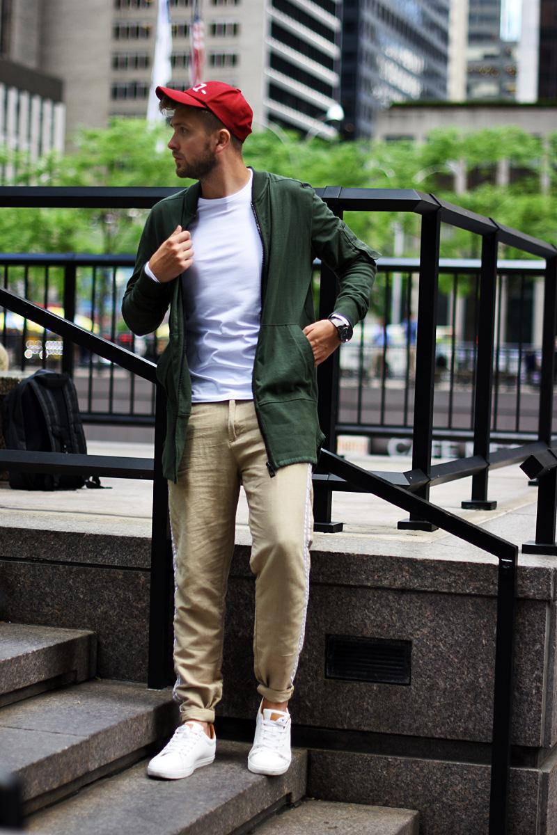 podlinski stylizacja nowy jork spodnie lniane