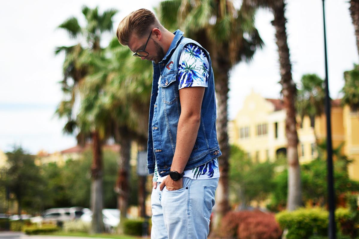 superdry koszulka meska z palmami