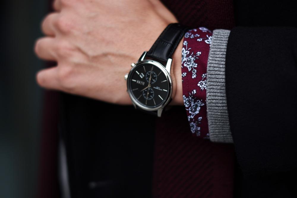 zegarek meski hugo boss elegancki