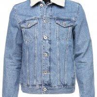 kurtka jeans z barankiem