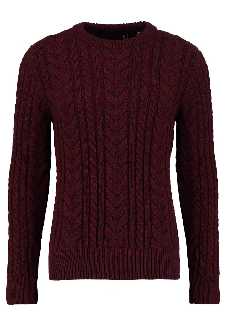 bordowy sweter męski