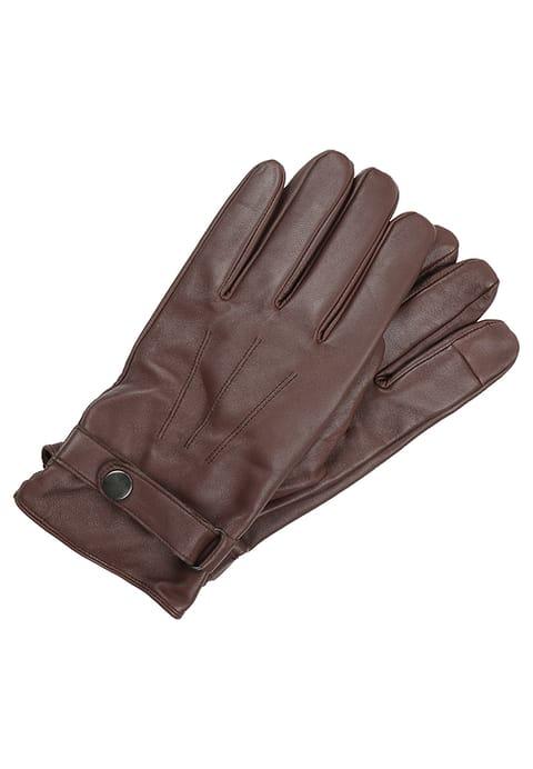 brązowe rękawiczki męskie pier one