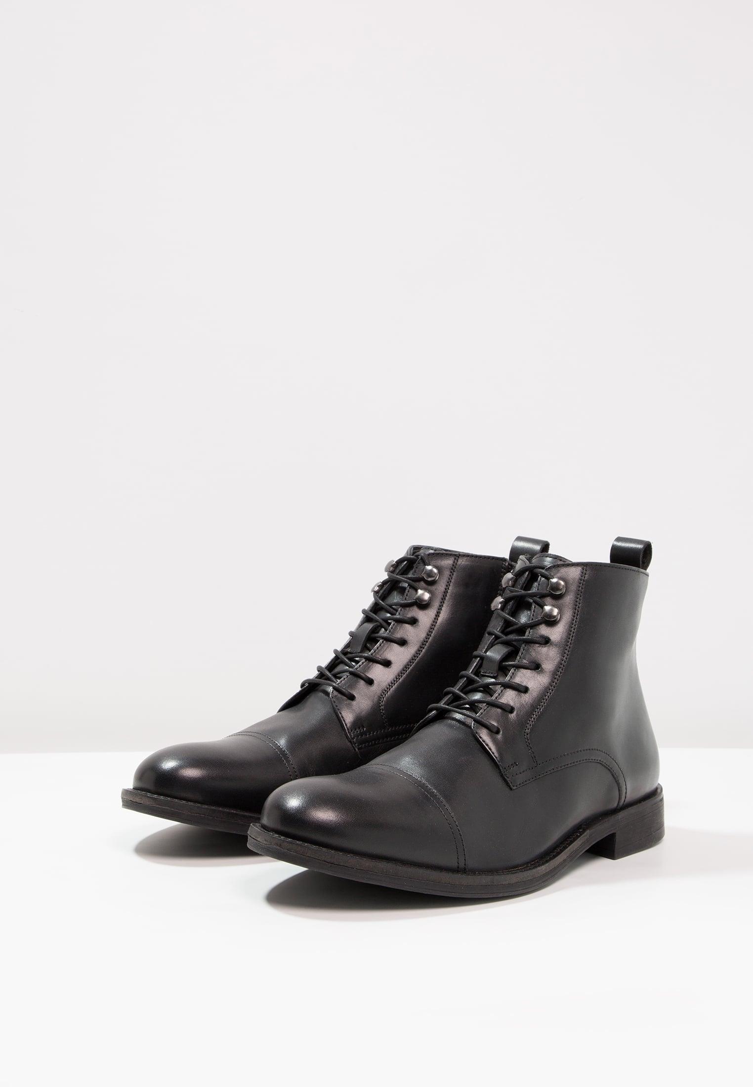 czarne męskie sznurowane botki