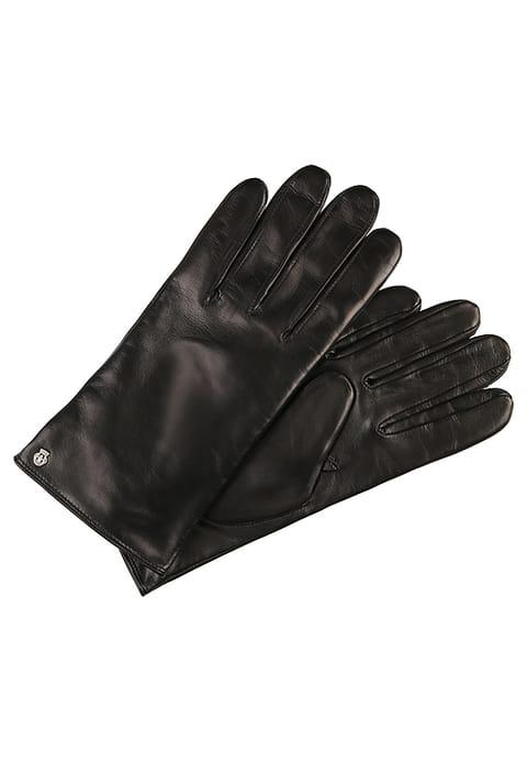 czarne skórzane rękawiczki roecki