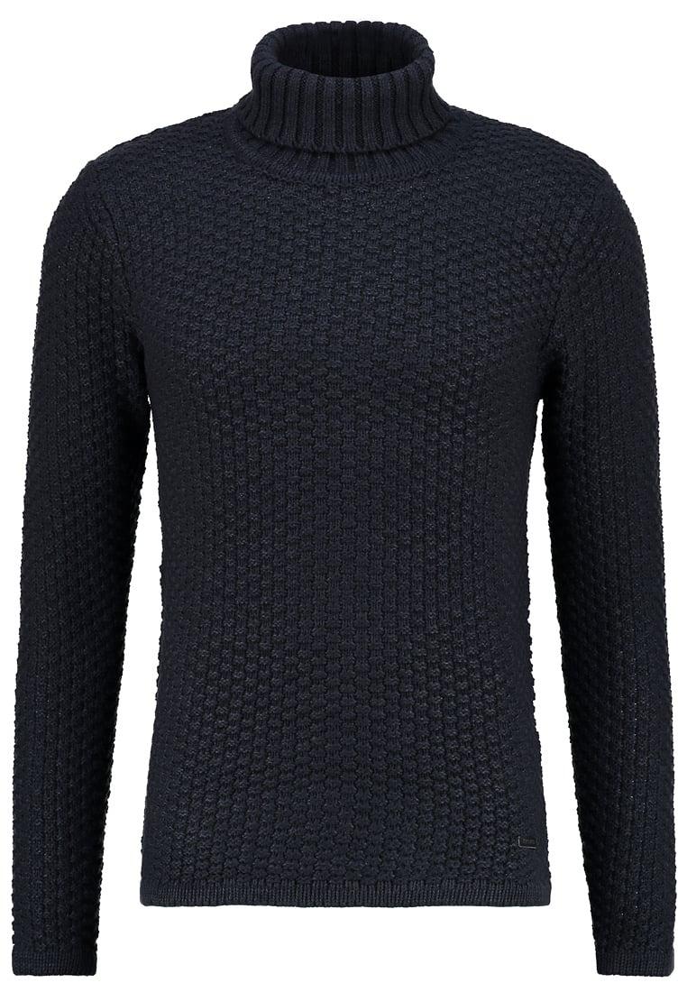 czarny sweter męski z golfem