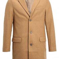 krótki płaszcz męski beżowy