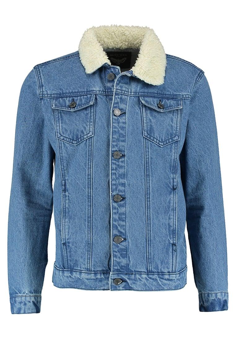 niebieska kurtka jeansowa z ociepleniem