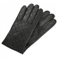 przeszywne czarne męskie rękawiczki lindeberg