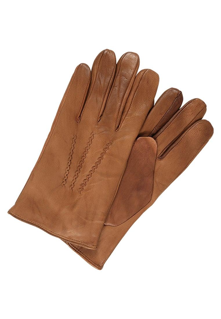 rękawiczki boss brązowe męskie