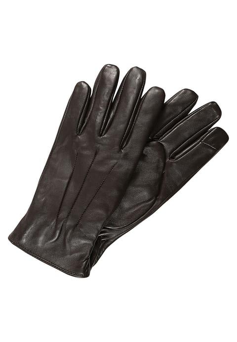 rękawiczki ciemny brąz jack and jones męskie