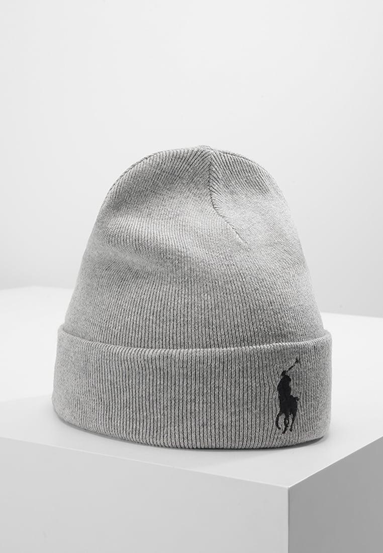 szara czapka męska polo ralph