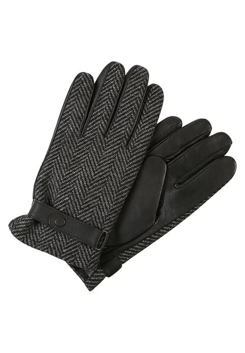szare męskie skórzane rękawiczki