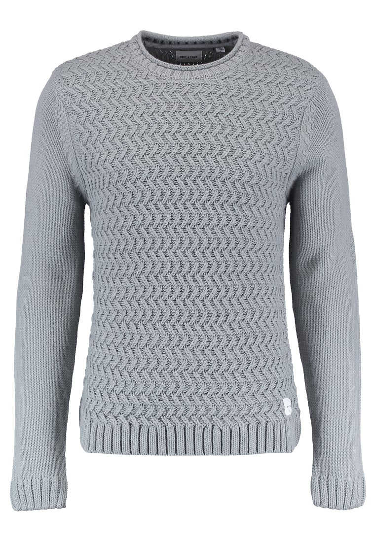 szary męski sweter