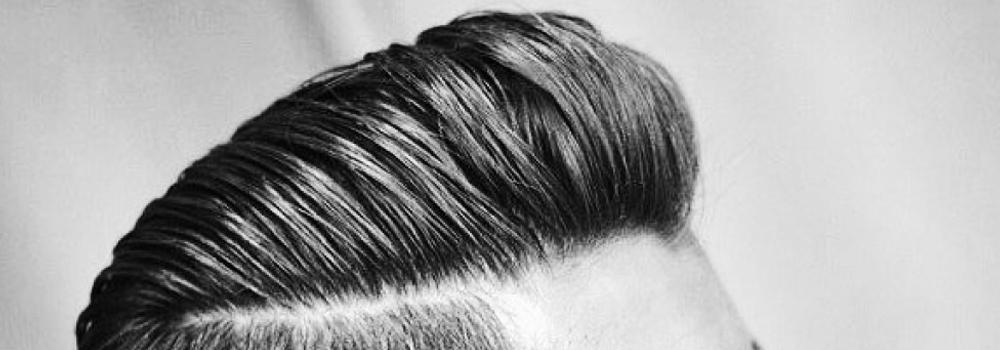pompadour meska fryzura klasyczna