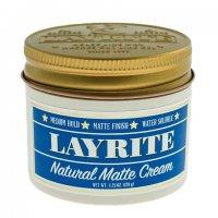 Matowa pasta o średnim chwycie - LAYRITE-NATURAL MATT CREAM POMADA DO WŁOSÓW 120G