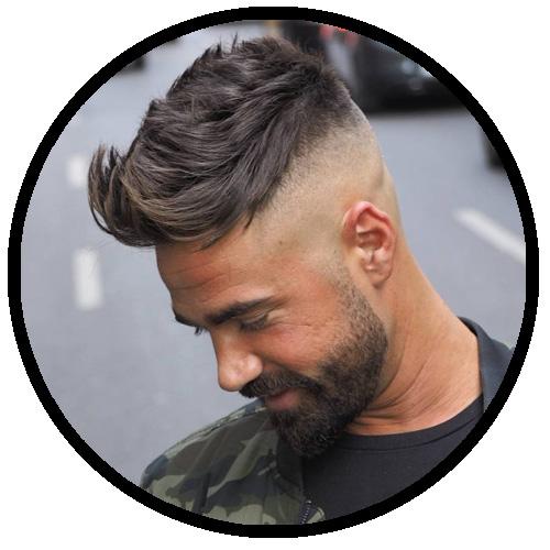 quiff męskie fryzury do szkoly