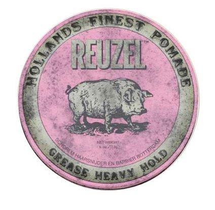 woskowa pomado do włosów Pink Pig Grease Heavy Hold Reuzel